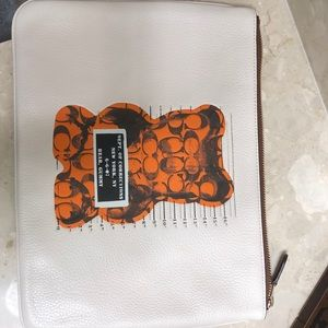 Coach leather gummy printed pouch
